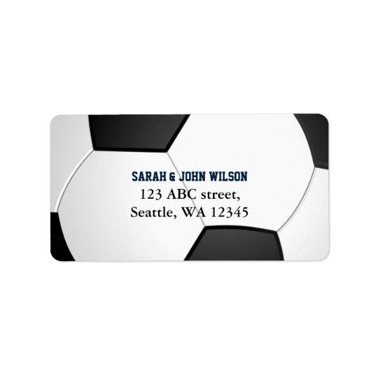Sports Party Soccer theme address label