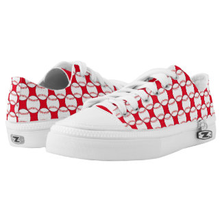 Sports Pattern Red and White Balls Printed Shoes