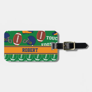 SPORTS Personalise Football Pattern for Children Luggage Tag