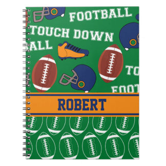 SPORTS Personalise Football Pattern for Children Note Book