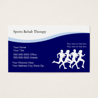 Sports Physical Therapy Business Cards
