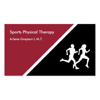 Sports Physical Therapy Rehab Pack Of Standard Business Cards