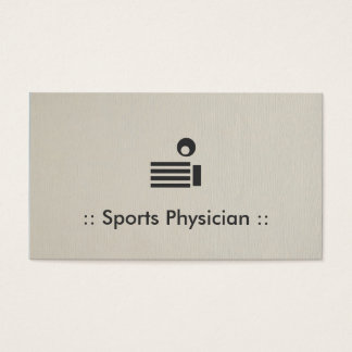 Sports Physician Chic Professional Business Card