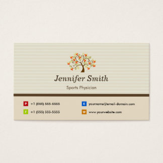 Sports Physician - Elegant Tree Symbol Business Card