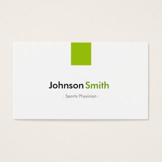 Sports Physician - Simple Mint Green Business Card