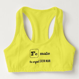 Sports pun iron element Fe male Sports Bra