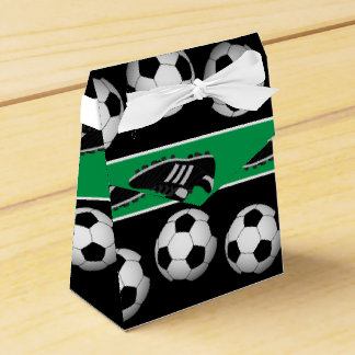 Sports soccer ball shoes pattern party box favour box