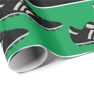 Sports soccer ball shoes pattern party wrap
