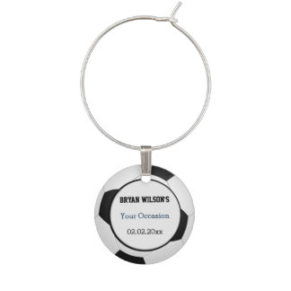 Sports Soccer theme Personalized wine charm
