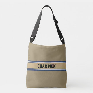 SPORTS STRIPES - blue beige grey + your ideas Tote Bag