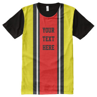 SPORTS STRIPES - Red Black White + your ideas All-Over Print T-Shirt