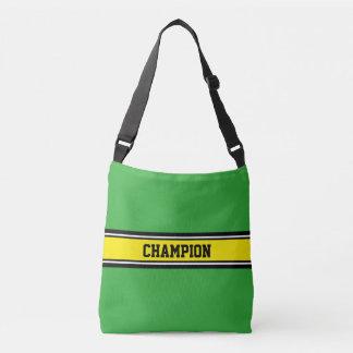sports stripes - yellow black white tote bag