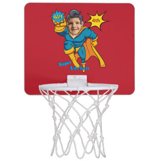 Sports Superhero Personalised Comic Art Mini Basketball Hoop
