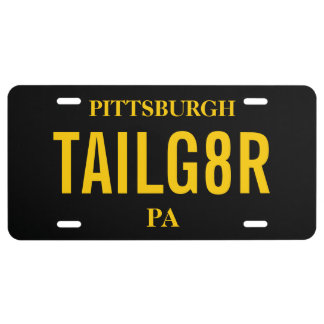 Sports Tailgate Tag   Custom Colors License Plate