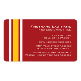 Sports Team Football Jersey Custom Name Number Pack Of Standard Business Cards
