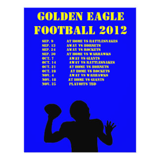 Sports team schedule personalised flyer