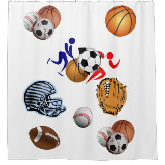 Sports teenagers and kids shower curtains shower curtain