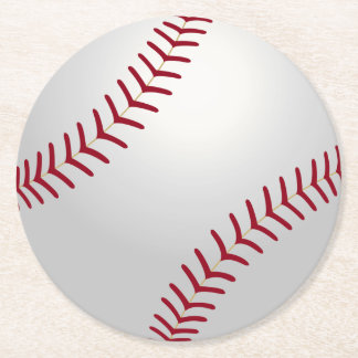 Sports Theme Baseball Coasters Round Paper Coaster
