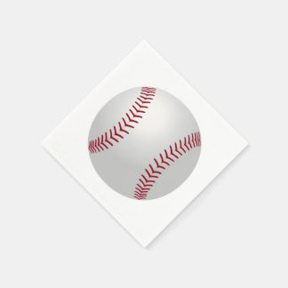Sports Theme Baseball Paper Napkins