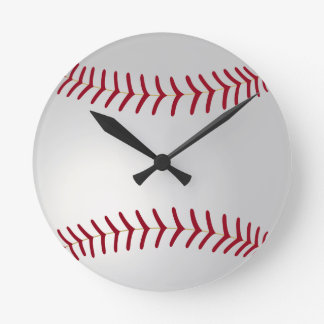 Sports Theme Baseball Wall Clock