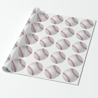 Sports Theme Baseball Wrapping Paper