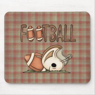 Sports Theme Football Helmet Fun Mousepad