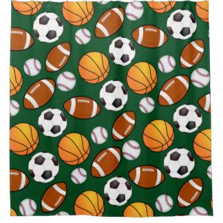 Sports theme Kids Bathroom Shower Curtain