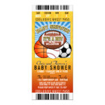 Sports Theme Party Baby Shower 10 Cm X 24 Cm Invitation Card