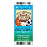 Sports Theme Party Baby Shower 10cm X 24cm Invitation Card