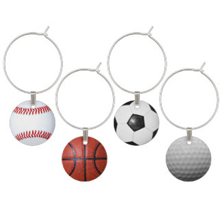 Sports Theme Sports Fans Adult Party Ideas Wine Charm