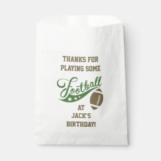 Sports Themed Favor Bags with Football Favour Bags