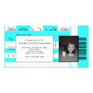 Sports Ticket Invite CHOOSE YOUR BACKGROUND COLOR