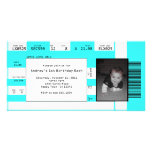 Sports Ticket Invite CHOOSE YOUR BACKGROUND COLOR Personalised Photo Card