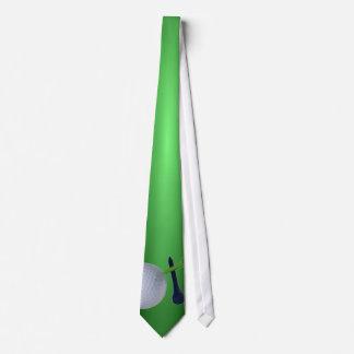 Sports Tie - Golf Design Green Background