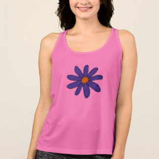 Sports top with blue flower