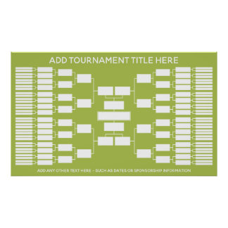 Sports Tournament Bracket for 64 Teams Poster
