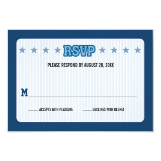 Sports Trading Card Bar Mitzvah Reply RSVP Custom Announcements