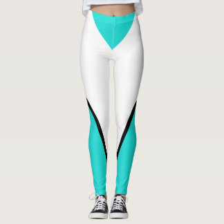 Sports Turquoise Bold Designer Sporty Chic Leggings