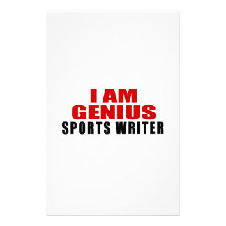 SPORTS WRITER DESIGNS STATIONERY