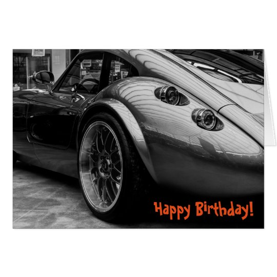 Sportscar Happy Birthday Greeting Card