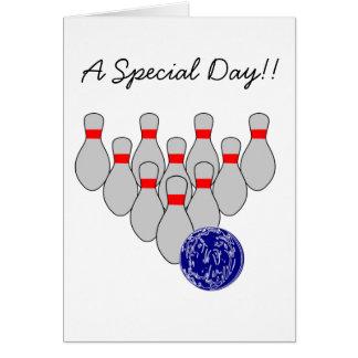 Sportsman Bowling  Birthday Card