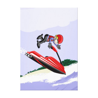 Sportsman is brilliant with his jet extreme ski canvas print