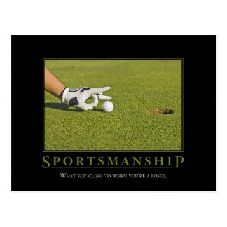 Sportsmanship Demotivational Postcard