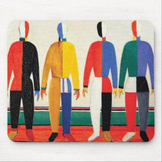 Sportsmen by Kazimir Malevich Mouse Pad