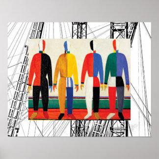 Sportsmen by Kazimir Malevich Poster