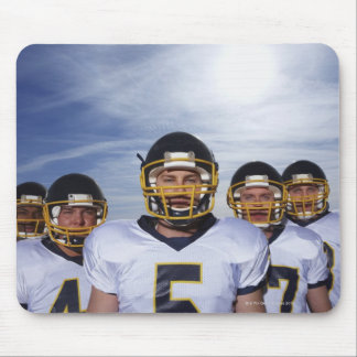 sportsmen standing together with sky in mouse pads