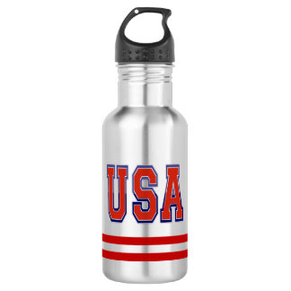 Sporty and Cool Priotic USA and Stripes 532 Ml Water Bottle
