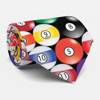 Sporty Billiard Pool Balls Tie