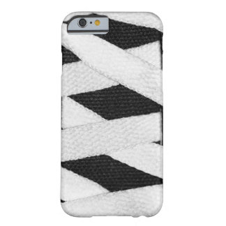 Sporty Black And White Geometric Skater Shoe Laces Barely There iPhone 6 Case
