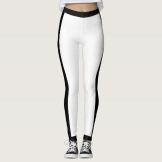 Sporty Black and White Leggings